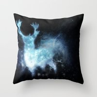 stag Throw Pillows featuring stag by Tati