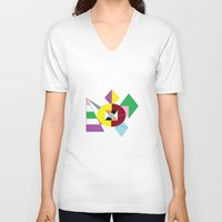 nfl V-neck T-shirts featuring NFL Abstract by Franky Fleece