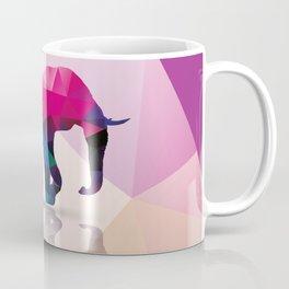 Elephant, Geometric Polygon Animal Coffee Mug