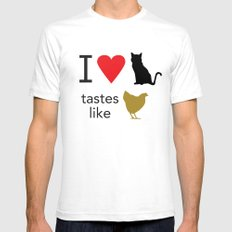 I Heart Cats Mens Fitted Tee SMALL White