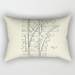 Railroad Track Construction-1932 Rectangular Pillow