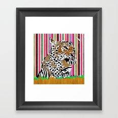 Tiger & His Technicolour Coat Framed Art Print