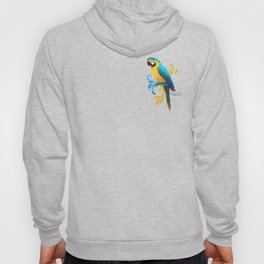 Blue and Gold Macaw Hoody