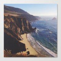 big sur Canvas Prints featuring Big Sur by Andrea Sobieski