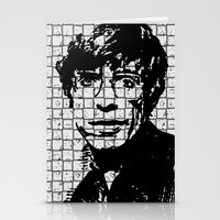 stephen king Stationery Cards featuring Stephen Hawking by Silvio Ledbetter