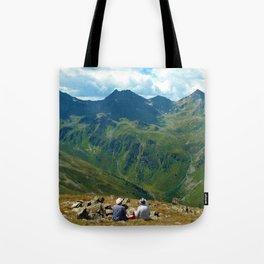 zwölferkopf hiking break view alps serfaus fiss ladis tyrol austria europe Tote Bag