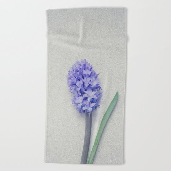 Lovely Bright Lilac Hyacinth Beach Towel