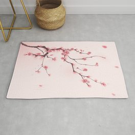 Oriental cherry blossom in spring 002 Rug