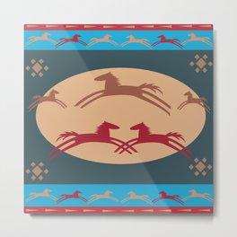 American Native Pattern No. 120 Metal Print