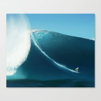 surfing Canvas Prints featuring Surfing by TuesdaeButler