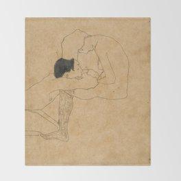 Egon Schiele Lovers Throw Blanket