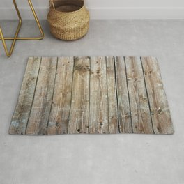Rustic Wooden Plank Texture Rug