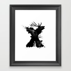 X ANIMALS Framed Art Print