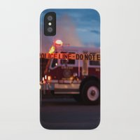 police iPhone & iPod Cases featuring Police Line by SShaw Photographic