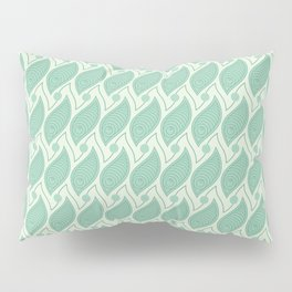 Background abstract green pattern 5, vector, texture design. Pillow Sham
