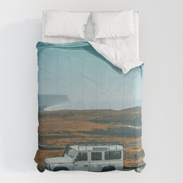 Defender on the Road Comforters