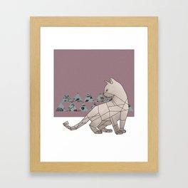 gemeowmetry Framed Art Print