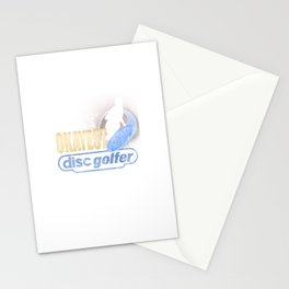 World's Okayest Disc Golfer Distressed Disc Golf Stationery Cards