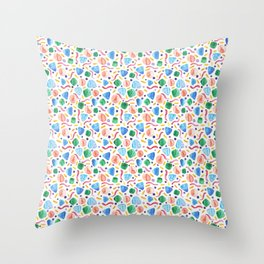 Abstract geometric watercolour  Throw Pillow