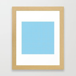 Oktoberfest Bavarian Blue Mini Houndstooth Check Framed Art Print