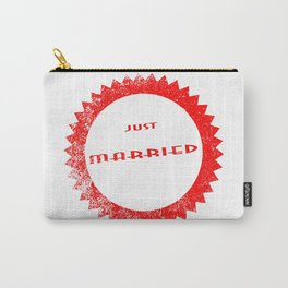 Just Married Ink Stamp Carry-All Pouch