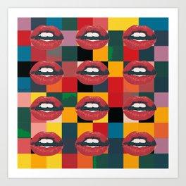 Twelve Mouths Art Print
