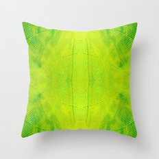 Yellow and Green Stripes Throw Pillow