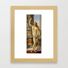 "Sandro Botticelli ""The Calumny of Apelles"" detail Framed Art Print"