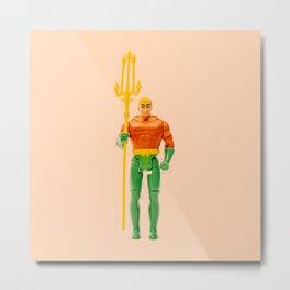 Orange Aquaman Metal Print