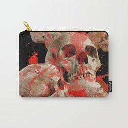 MACABRE BLOOD & SKULLS BLACK  ART Carry-All Pouch