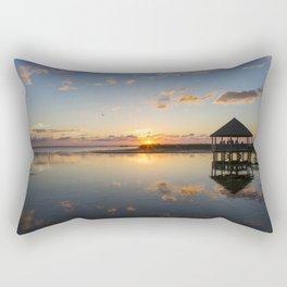 Gazebo at Sunset Rectangular Pillow