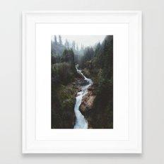 Lava Canyon Framed Art Print
