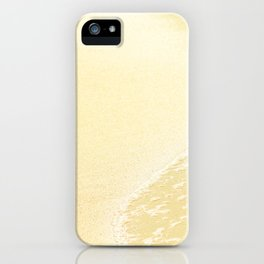 Kapalua Beach sparkling golden sand and seafoam Maui Hawaii iPhone Case