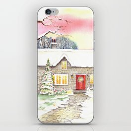 Snowy Cottage iPhone Skin