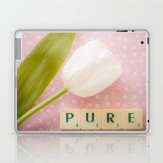 Pure - White Tulip Laptop & iPad Skin