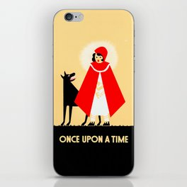 Little Red Riding Hood And The Big Bad Wolf - Classic Fairy Tale Poster iPhone Skin