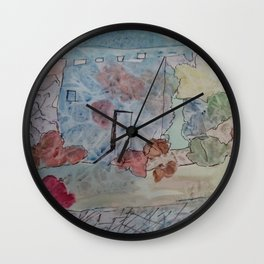 Phantasie Architektur Wall Clock