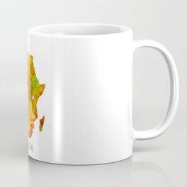 Africa map colored Coffee Mug