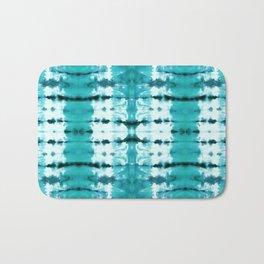 Aqua Satin Shibori Bath Mat