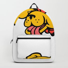 Super Yellow Labrador Retriever Wearing Cape Mascot Backpack