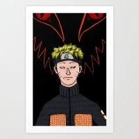 naruto Art Prints featuring Naruto by nu boniglio