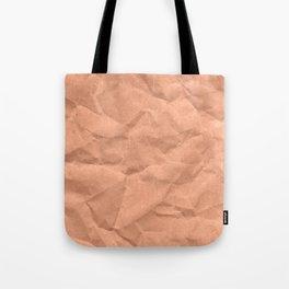 Kraft paper. crumpled paper Tote Bag