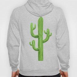 Green Cactus on Black Hoody