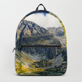 Tatry Poland Mountain Lake Reflections Backpack