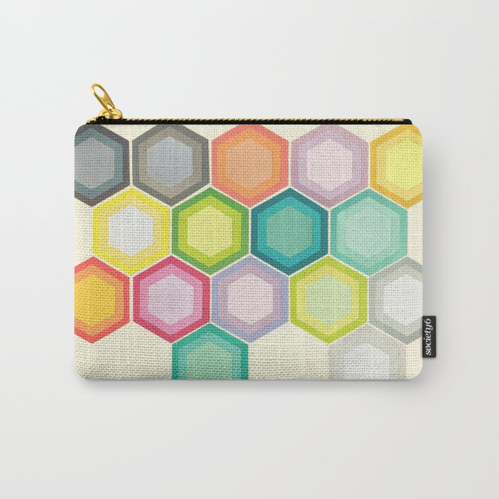 Honeycomb Layers Carry-All Pouch