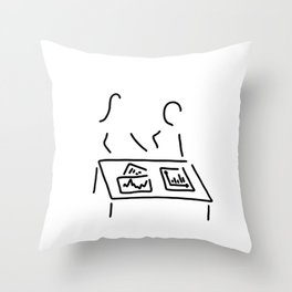 meeting analyst banker manager Throw Pillow