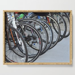 Bicycle Wheels Serving Tray
