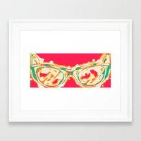 sunglasses Framed Art Prints featuring Sunglasses by Lucas John Jensen