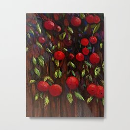 Ruby Red Apples Metal Print