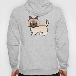 Cute Wheaten Cairn Terrier Dog Cartoon Illustration Hoody